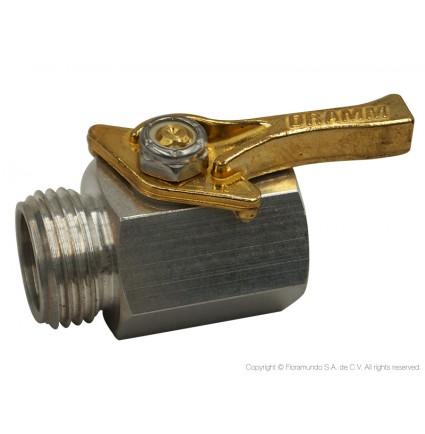 """Válvula de paso 3/4"""" de aluminio"""